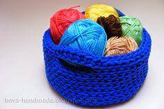 Koszyk ze sznurka DIY