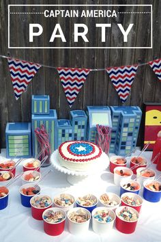 Red, White and Blue Captain America Party with M&M's #HeroesEatMMs #CollectiveBias