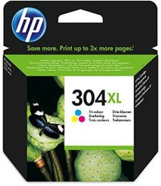 HP 304XL Cartouche Trois Couleurs (Cartouche Cyan, Magenta, Jaune) Authentique Grande Capacité (N9K07AE)