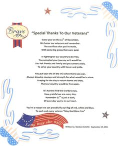 veterans day poems - Google Search