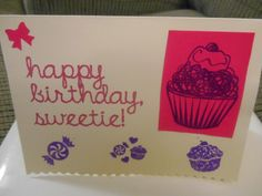 Happy Birthday Sweetie card BLANK INSIDE with envelope $4.50 from savannahPcards