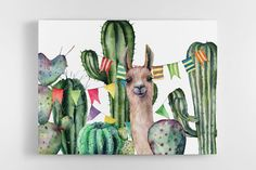 Arte Naturalista, Cactus, Moose Art, Animals, Modern Paintings, Paintings, Canvases, Paper Houses, Decorating Rooms