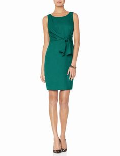 Tie Front Sheath Dress from THELIMITED.com - bridesmaid dress idea?