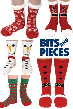 Bits and Pieces Holiday SILLY SOCKS!