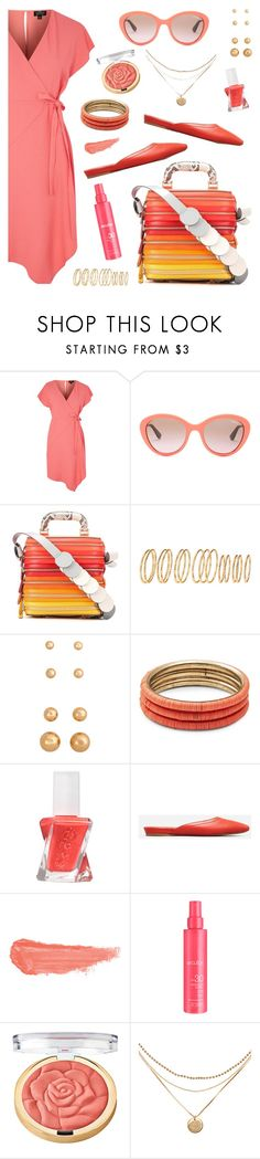 """""""Anya Hindmarch Circle Six Zip Stack Leather Shoulder Bag"""" by dazzlious ❤ liked on Polyvore featuring Topshop, Vogue Eyewear, Anya Hindmarch, H&M, Design Lab, Essie, Everlane, By Terry and Milani"""