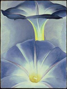 Georgia O'Keeffe. Blue Morning Glories, New Mexico II, 1935: