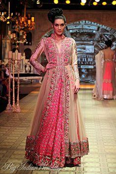 Champagne pink Anarkali