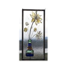 Stained Glass Flowers in a Mini Vase by StainedGlassSundays, $199.99
