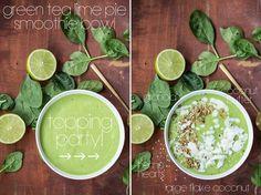 Green Tea Lime Pie Smoothie Bowl — Oh She Glows
