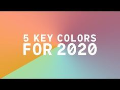 Coloro x WGSN key colors 2020 - wgsn