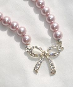 PINK PEARLS AND CZ BOW