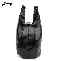 Brand Design PU Leather Black Backpack Waterproof Men's Back Pack 15.6 Inch Laptop Mochila High Quality Backpacks Male Escolar