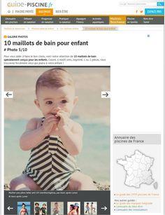 Maillot de bain bébé une pièce anti-UV Jours après Lunes par Guide Piscine #joursapreslunes #antiuv #guidepiscine #soleil #plage #maillotdebain #bebe #protection #rayures