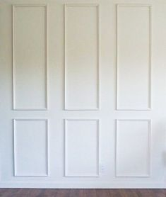Brooklyn Six Piece Applied Wall Moulding Kit~ Get the custom, high-end look in your home with Luxe Architectural Panel Moulding, Wall Molding, Molding Ceiling, Wainscoting Wall, Molding Ideas, Moldings And Trim, Wall Trim, Layout, Wall Treatments