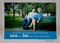 Wedding Save the Date  TYING THE KNOT  Vows by r3mg   Card by r3mg, $87.50