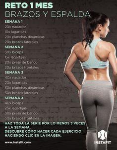 Tonifica tu cuerpo con esta rutina de brazos y espalda #workout #arms #back…