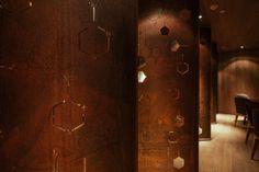 Vie Chat on Behance, RED Design Consultants Shanghai. French Restaurants, Red Design, Design Consultant, Restaurant Design, Shanghai, Wall Design, Wall Lights, Behance, Interior Design