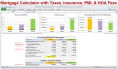 Excel Mortgage Calculator Template With Amortization Schedule And