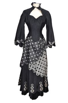"""Adele Jergens """"Cameo McQueen"""" black and silver period dress designed by Walter Plunkett made for Show Boat (1952)"""
