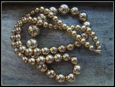 Glamorous Gold Tone Metal Graduated Beaded by AntiqueAlchemists, $35.00