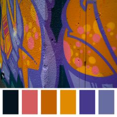 purple orange colour palette - Graffiti palette