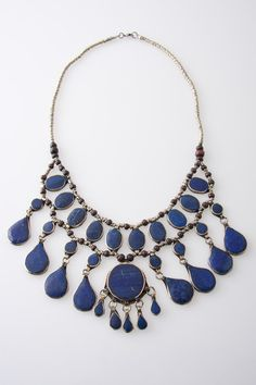 Cassidy Necklace in Lapis by Natalie B