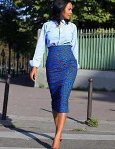 Ankara fitted Skirt Ankara skirt african print skirt by SkirTnToP