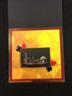 Greeting card made from Vegas, a collection by Reminisce.
