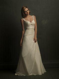 Taffeta Sweetheart Fitted Bodice A-line Wedding Dress