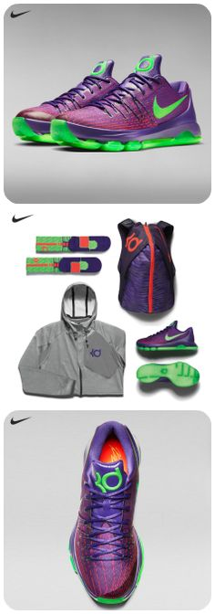 Step up your style and your game with the Nike KD 8 'Purple Reign' collection, available Friday.