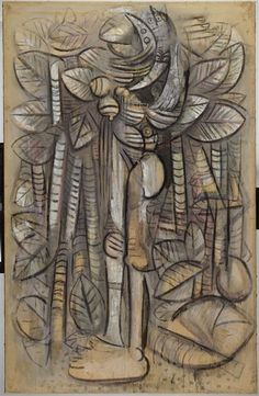 Lumière de la forêt Lam Wifredo (dit), Lam y Castilla Wifredo Oscar (1902-1982) Paris, Centre Pompidou - Musée national d'art moderne - Centre de création industrielle