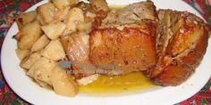 Υλικά: Κρέας χοιρινό από μπούτι σε ένα κομμάτι Για τη μαρινάδα (υλικά για κάθε 1,5-2 κιλά κρέατος) ½ φλ. τσαγιού ελαιόλαδο 1 ½ φλ. τσαγιού λευκό κρασί χυμό και ξύσμα δύο λεμονιών χυμό και ξύσμα ενός πορτοκαλιού 3 πιπεριές κομμένες σε κομμάτια 3 σκελίδες σκόρδο 2 κουταλιές σούπας δεντρολίβανο ψιλοκομμένο 1 κουταλιά σούπας ρίγανη 1 [...] Meatloaf, Pork, Cooking, Kale Stir Fry, Kitchen, Pork Chops, Brewing, Cuisine, Cook
