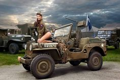 Military Jeep and model Jeep Willys, Jeep 4x4, Jeep Truck, Jeep Baby, Trucks And Girls, Car Girls, Jeep Wrangler Girl, Bus Girl, Military Jeep