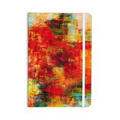 """Ebi Emporium """"Autumn Harvest"""" Red Orange Everything Notebook"""