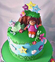 tellastella festa: 12 Ideias de bolos Dora , a Aventureira