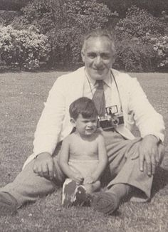 David as a baby with his Grandpa, Jimmy. 'He was the man I knew as Jimmy and I grew up under his spell, so his story is not only very close to my heart, but also very emotional, because Jimmy was my surrogate father,' explains David, who was brought up as the middle son of Jack Suchet, a Harley Street doctor, and his wife, Joan, an ex-actress.