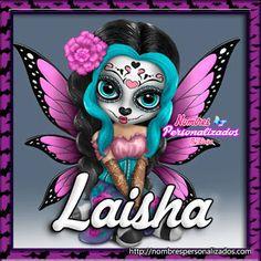 """Nombres """" Eloisa """": Catrina Mariposa con Nombres (L)"""