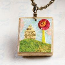 Learn how to make a Scrabble tile pendant for a unique necklace! #jewelry