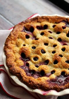 A tender flaky crust is filled with a sweet-sour filling in this ultimate cherry pie! Perfect for an outdoor summer feast or 4th of July party.