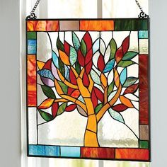 Stained Glass Window Panel: Tree Of Life