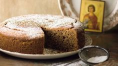 Fanouropita, the lost and found cake Photo by: Greek Table Cooking Greek Sweets, Greek Desserts, Greek Recipes, Desert Recipes, Healthy Desserts, Healthy Food, Cake Tins, Round Cakes, Banana Bread