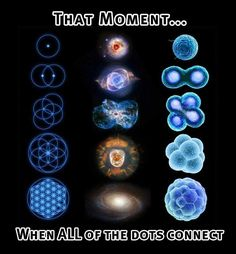 That moment...when all of the dots connect.