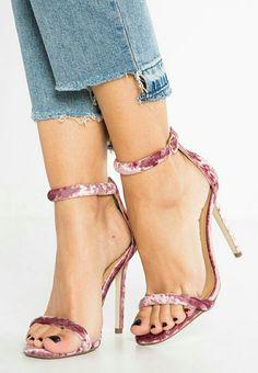 Sandali con tacco blush