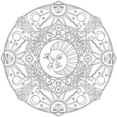 Creative Haven Celestial Mandalas Coloring Book