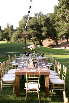 Provincia Wood Tables. Classy, Elegant, Fairytale Wedding. Swann Soirees, Sean Walker Photography, XOXO Wedding Studio, Flowers by Annette, Concepts Event Design. Wedding @ Temecula Creek Inn: Ashley and John
