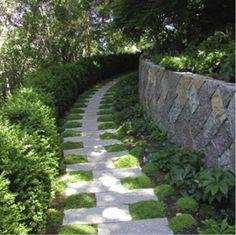 Side Yard Walkway Ideas   Garden Ideas, Landscaping ideas, pathway, walkway, side yard, Stone ...