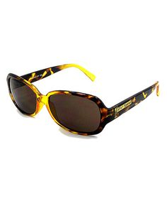 Love this Yellow Tortoise Oval Sunglasses by Betsey Johnson on #zulily! #zulilyfinds