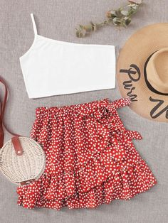 Teenage Girl Outfits, Cute Girl Outfits, Girls Fashion Clothes, Summer Fashion Outfits, Girly Outfits, Cute Casual Outfits, Outfits For Teens, Girl Fashion, Style Casual