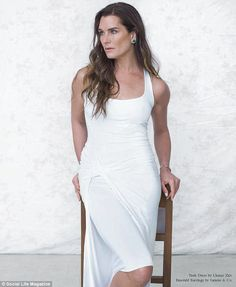 Brooke Shields poses for Social Life Magazine as she opens up about keeping her daughters away from modelling until they finish college
