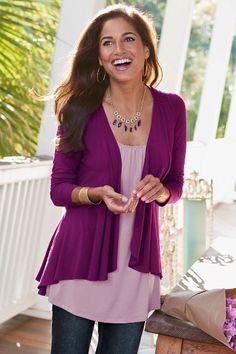 Soft Drapey Topper - Womens Drapey Cardigan, Womens Cutaway Cardigan | Soft Surroundings
